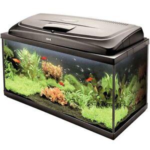 Large-Fish-Tank-Complete-Aquarium-Set-up-with-Heater-Filter-amp-Light-98-Litres
