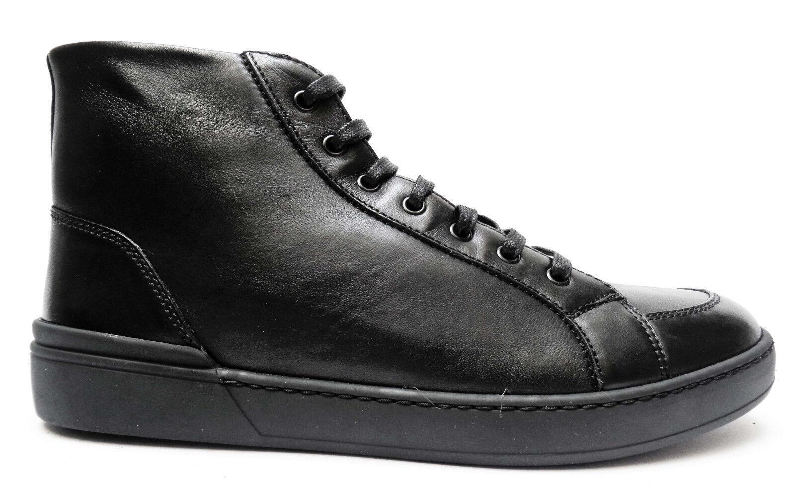 shoes DA men FRAU 20M3 shoes ALTE STRINGATE IN PELLE COL. black