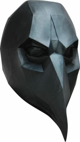 Low-Poly Polygone Black Crow Adulte Latex Masque 3D Costume Halloween Accessoire Neuf