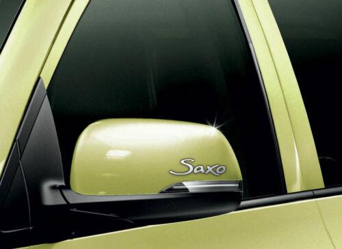 Citroen Saxo Cromado Vinilo Wing Espejo Etiqueta calcomanías coche Mod Gráfico X2
