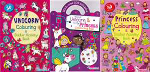 3-x-Unicorn-amp-Princess-Colouring-Activity-Books-A4-Paperback-for-Children-3