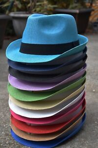 7c6f28563a6c5 Image is loading Colorful-Mens-Women-039-s-Summer-Fedora-Trilby-