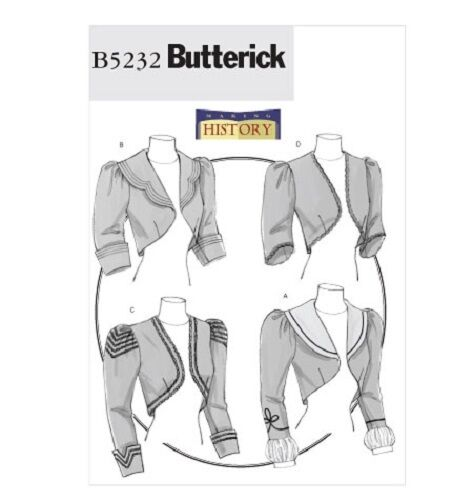 BUTTERICK 5232 OOP Steampunk Victorian Womens Jacket Costume Sewing Pattern