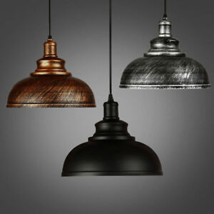 Iron-Vintage-Ceiling-Light-Pendant-Lamp-Shade-Industrial-Chandelier-Lamp-NO-BULB