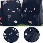 1Pcs Embroidery Backpack School Bag Cute Cat HOT Canvas Casual Black Cartoon