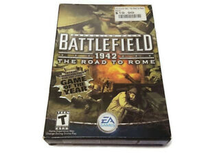 Battlefield 1942 The Road To Rome Expansion PC CD-ROM Game 2003 Shooter Box CIB