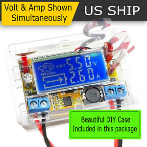 DC-DC-Adjustable-Step-Down-Power-Supply-Module-Voltage-Current-LCD-Display-Shell