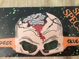 Ghoul-Gallery-Spooky-Gafas-Gafas-Por-Applause-Vtg-Nuevo-Calavera-Gafas-Halloween