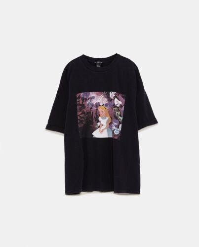 Black L shirt Zara Print Top Disney Size T last zvHqwE0z