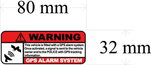 gps tracking Decal size apr.32mmh.by80mmw gloss laminated SET OF 4