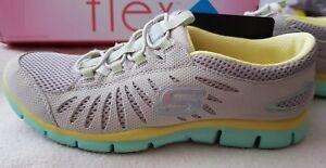 Flex da Eu35 giallo scarpe grigio Ladies Skechers ginnastica scarpe leggere Uk2 Light New Hp6wFcU