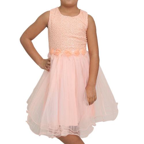 Blumen Kind Mädchen Prinzessin Hochzeit Kleid Tüll festlich Geburtstag Party L06