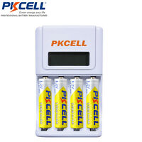 4 Count - Aa Rechargeable Battery + Aa/aaa 4 Channel Battery Charger Nimh Nicd