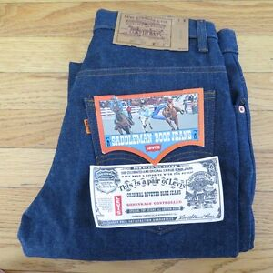VINTAGE-ORIGINAL-DEADSTOCK-LEVIS-SADDLEMAN-BOOT-JEANS-1970-039-s-W30-L29-MADE-IN-USA