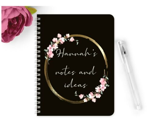 Personalised Notebook Notepad A5 Wedding Planner Party Gold Notes Ideas Book