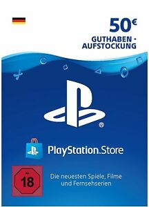 DE PSN Network Card 50€ EUR - 50 Euro Playstation Prepaid Key Sony PS3 PS4 PSP