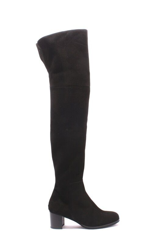 Luca Grossi 368a 368a 368a Black Suede High Over-the-Knee Heels Boots 37.5   US 7.5 6124f4