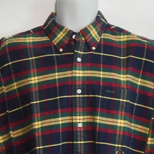 18469cbcb Image is loading VINTAGE-Tommy-Hilfiger-Mens-Large-Multi-Color-Checkered-