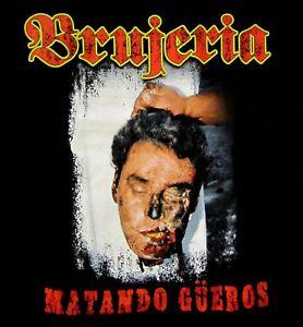 BRUJERIA-cd-cvr-MATANDO-GUEROS-Official-SHIRT-LRG-New-fear-factory-asesino