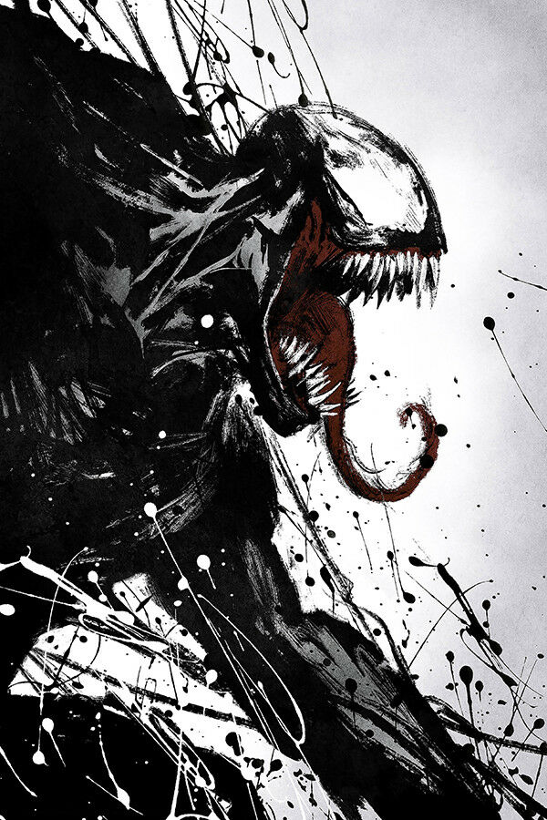 "Venom Art Poster 48x32/"" 40x27/"" 2018 Tom Hardy Movie Film  Print Silk #3"