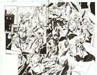 Trinity #25 p.2&3 - Green Arrow, Lex Luthor vs the JSI DPS 2008 signed by Bagley