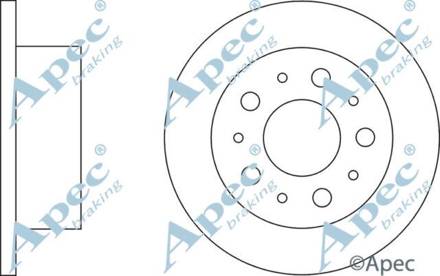 REAR BRAKE DISCS (PAIR) FOR CITROEN RELAY GENUINE APEC DSK2259