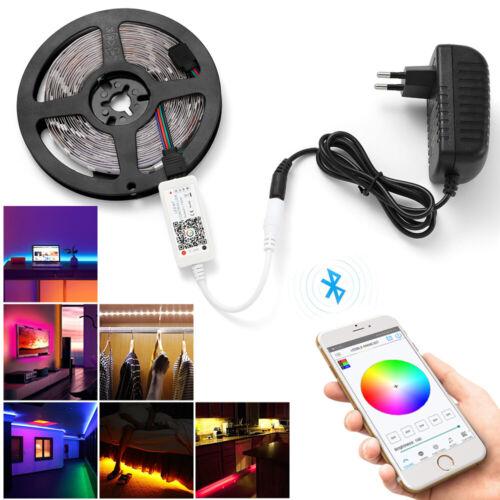 10M RGB 5050SMD LED Stripe Streifen Lichtband WiFi Alexa APP Controller Netzteil