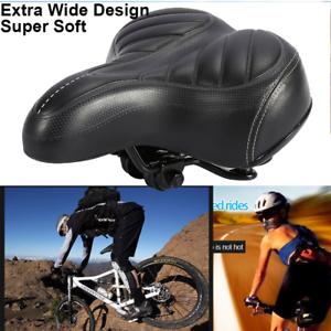 Extra-Wide-Big-Bum-Bike-Bicycle-Cycling-Gel-Cruiser-Pad-Saddle-Seat-Soft-Comfort