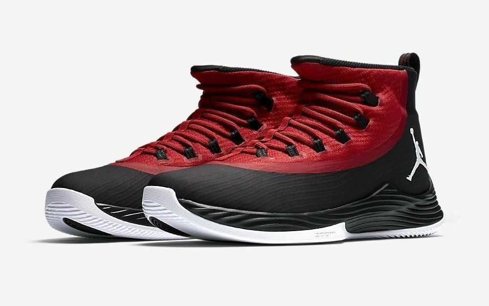 Nike Jordan Ultra.Fly 2 Men's Basketball shoes 897998, Black Gym Red White, 11.5