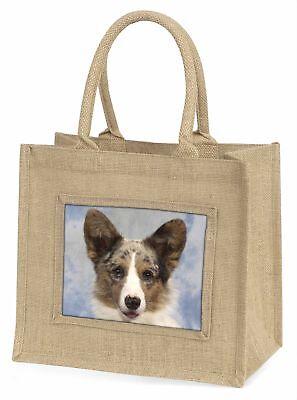 Cardigan Dackel Hund große natürliche jute-einkaufstasche Weihnachten