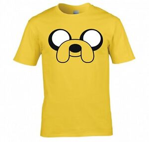 ADVENTURE-TIME-034-JAKE-THE-DOG-FACE-034-T-SHIRT-NEW