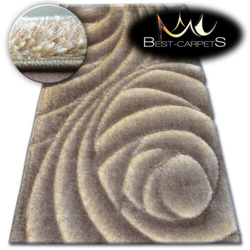 """SOFT AND FLUFFY RUGS SHAGGY /""""SPACE 3D/"""" HIGH QUALITY GLOSSY SILKY CARPETS"""