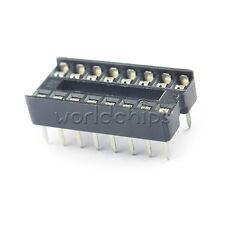 10pcs 16 Pin Integrated Circuit Ic Sockets Adaptor Solder Type