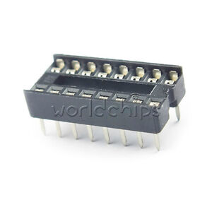 20pcs 18PIN 18 PIN DIP IC Socket Adaptor Solder Type Socket Pitch Dual Wipe