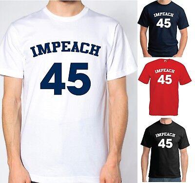 Impeach Donald Trump Anti Slogan Statement Protest Resist 8645 86 45 T-Shirt