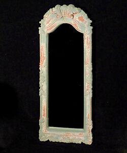 Spiegel-Wandspiegel-BLOOM-mit-Holzrahmen-graublau-Shabby-Landhaus-65-x-25-cm