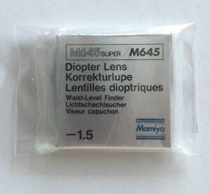 MAMIYA-M645-M645-Super-1-5-Diopter-lens-for-Waist-level-finder-Korrekturlupe