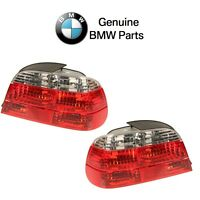 Bmw 740i 740il Pair Set Of Left And Right Taillights With White Turn Signal Oes
