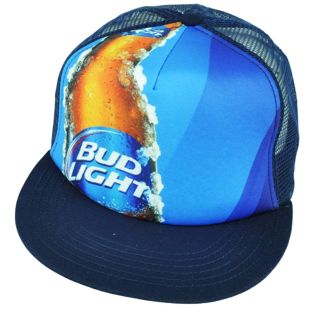 Blüte Licht Netz Schaum Panel Bier Lager Blau Flache Bill Snapback Kappe Malz