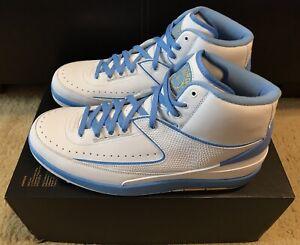 sale retailer 22620 c0186 Details about Nike Air Jordan 2 Retro Melo 2018 Men's sz 13 White  University Blue 385475-122
