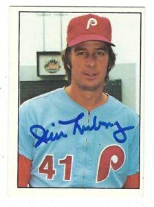 Autographed 1975 SSPC JIM LONBORG Philadelphia Phillies card #462 w/ Show Ticket