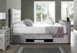Tv In Bed : The titan king size tv bed frame finance available tv bed store