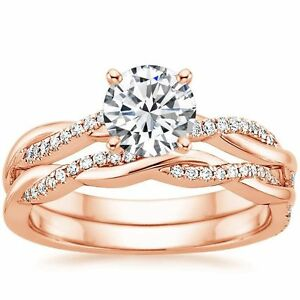 Image Is Loading 1 05 Ct Round Intertwined Twisted Wedding Band