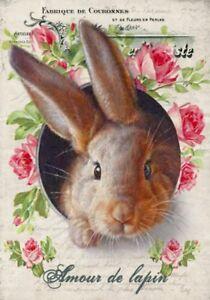 BÜGELBILD-Vintage-Shabby-Nostalgie-Hase-Ostern-Easter-Eier-3251