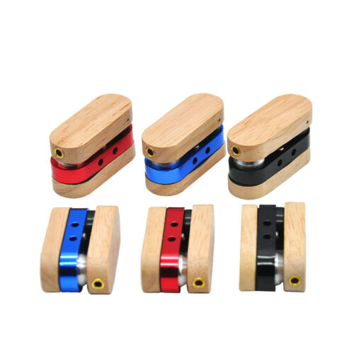 Portable Metal Mini Optional Pipe Folding Wood Black Blue Red Tricolor Smoking