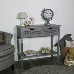 Vintage-grey-washed-living-console-table-storage-unit-hallway-living-room-french
