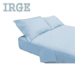 Completo-letto-matrimoniale-100-Cotone-IRGE-lenzuola-tinta-unita-made-in-ITALY