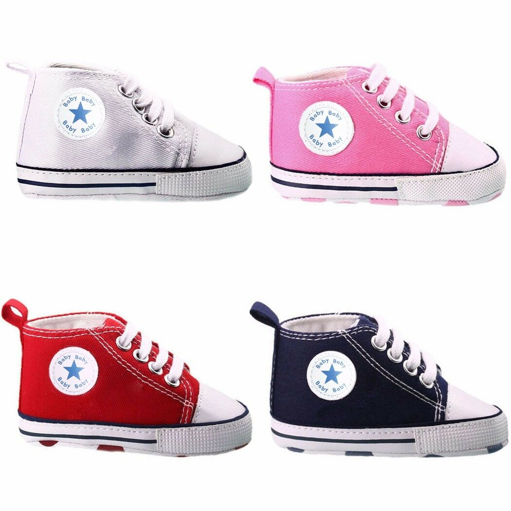Toddler Baby Boy Girl Soft Sole Crib Shoes Infant Sneakers 0-18 Months Cute Gift