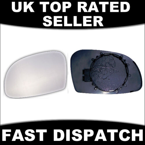 REPLACEMENT MIRROR GLASS WITH BASE PLATE TO FIT NISSAN PRIMASTER 01 LH HEATED