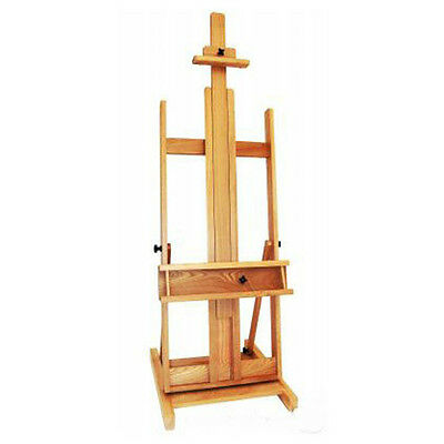 Professional artists easel XXL 210 cm beech wood painting display studio, NEW
